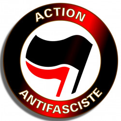 ACTION ANTIFASCISTE stickers vinyle 8x8cm