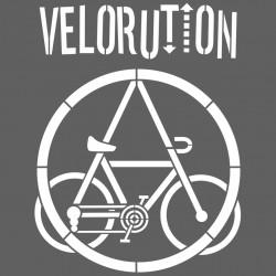 Vélorution - Pochoir mural