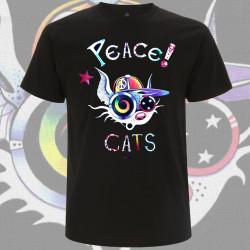 PEACE CATS t-shirt Homme bio-équitable
