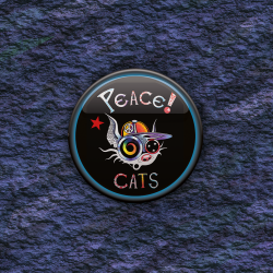 BADGE PEACE CAT par Cosmix Mat