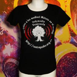 INDYMEDIA VENEZUELA T-shirt Femme en coton bio