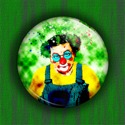 COLUCHE CLOWN Badge Ø31mm