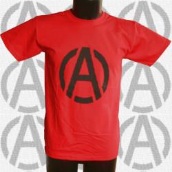A & Anar, t-shirt rouge, homme devant