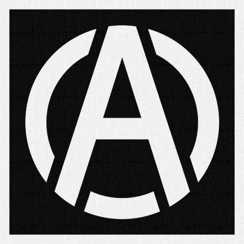 Anarchie 2 - Patch à coudre - 9x9cm