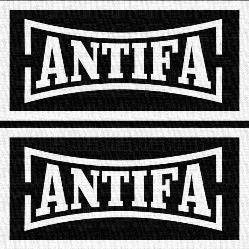 Antifa - Patch à coudre - 2x 4x9cm