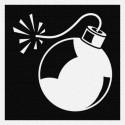 Bombe - Patch à coudre - 9x9cm