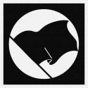 Drapeau Noir - Patch à coudre - 9x9cm
