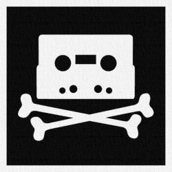 K7 Pirate - Patch à coudre - 9x9cm