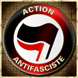 Action Antifasciste - Badge Ø25mm