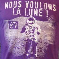 Nous voulons la lune - Fille, T-shirt Bio Equitable violet