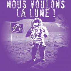 Nous voulons la Lune - T-Shirt bio Homme - motif