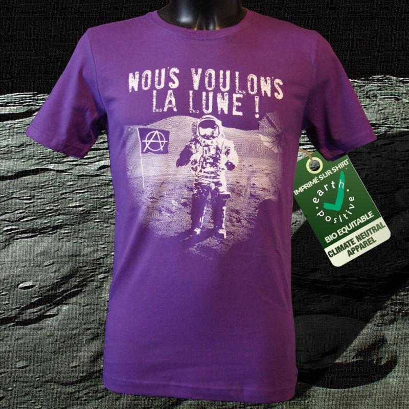 Nous voulons la lune - Homme, T-shirt Bio Equitable violet