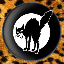 Chat Noir (noir) - Badge Ø25mm