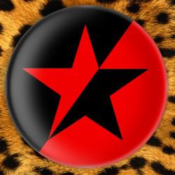 Etoile Noire & Rouge - Badge Ø25mm
