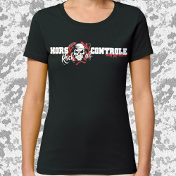 HORS CONTROLE Strictly Antisfascist t-shirt feminin