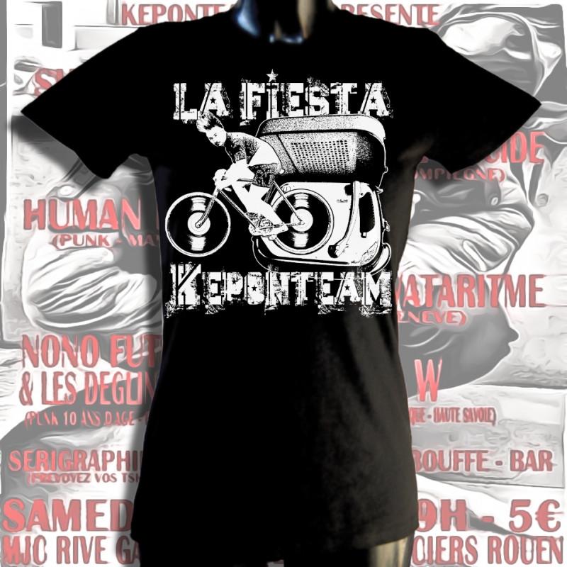 La Fiesta Keponteam 2, femme, t-shirt bio-equitable