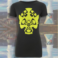 FuckUShima - t-shirt gris bio-équitable femme