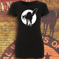 Chat Noir, t-shirt femme noir