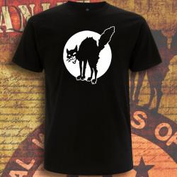 Chat Noir, t-shirt homme noir devant