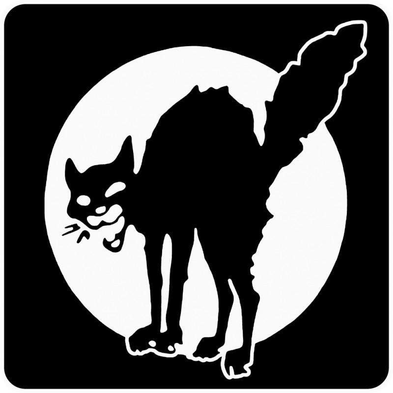 Stickers Chat Noir 8x8cm