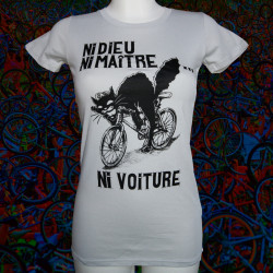 NI DIEU NI MAÎTRE NI VOITURE T-shirt bio équitable Femme