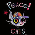 PEACE CATS t-shirt Homme bio-équitable