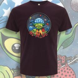 Aubergine NO MⒶDE T-Shirt Homme Bio-Equitable