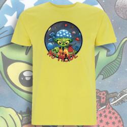 Jaune NO MⒶDE T-Shirt Homme Bio-Equitable