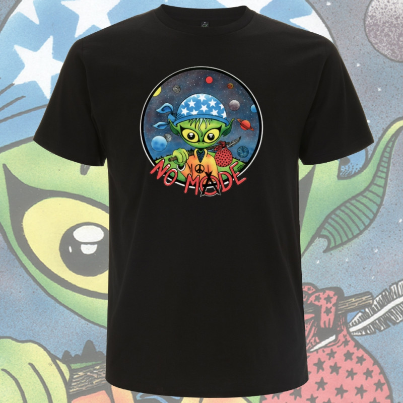 Noir NO MⒶDE T-Shirt Homme Bio-Equitable