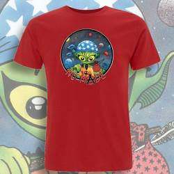 Rouge NO MⒶDE T-Shirt Homme Bio-Equitable