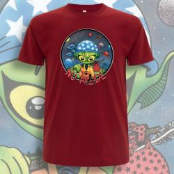 Rouge foncé NO MⒶDE T-Shirt Homme Bio-Equitable