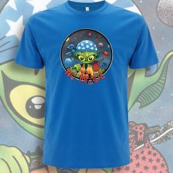Bleu Royal NO MⒶDE T-Shirt Homme Bio-Equitable