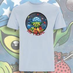 Bleu ciel NO MⒶDE T-Shirt Homme Bio-Equitable