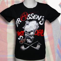 """BRASSENS NOT DEAD """"Coyote 1"""" t-shirt femme en coton bio-quitable"""