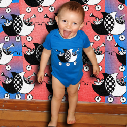 SKALANDAU body bébé bleu bio équitable