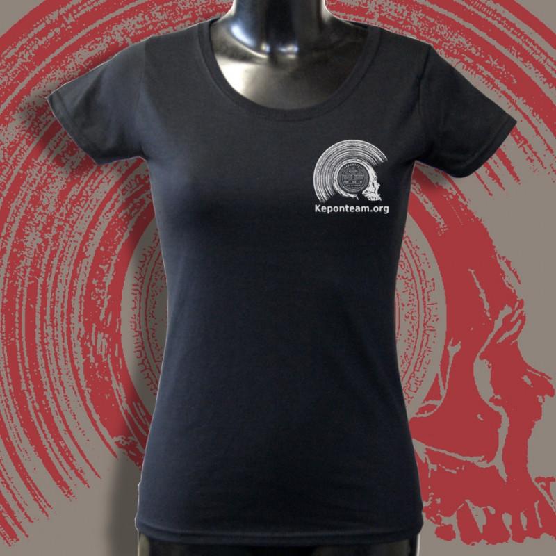 Keponteam devant t-shirt noir femme