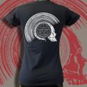 Keponteam, dos t-shirt noir femme