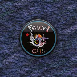 BADGE PEACE CAT par Cosmix Mat