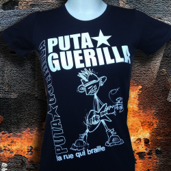 PUTA GUERILLA La Rue Qui Braille t-shirt femme en coton bio-quitable