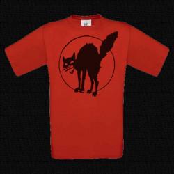 Chat Noir, t-shirt homme rouge