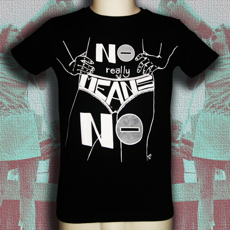 NO MEANS NO t-shirt masculin en coton bio-equitable