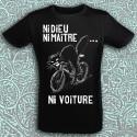 NI DIEU NI MAÎTRE NI VOITURE T-shirt noir bio équitable
