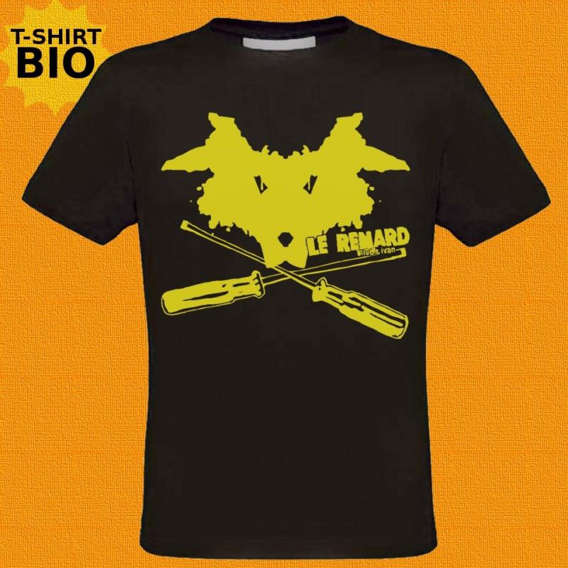 Le Renard, t-shirt bio, homme, noir