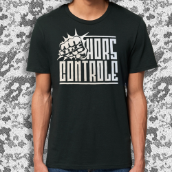 HORS CONTROLE Poing t-shirt masculin