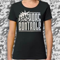 HORS CONTROLE Poing t-shirt feminin