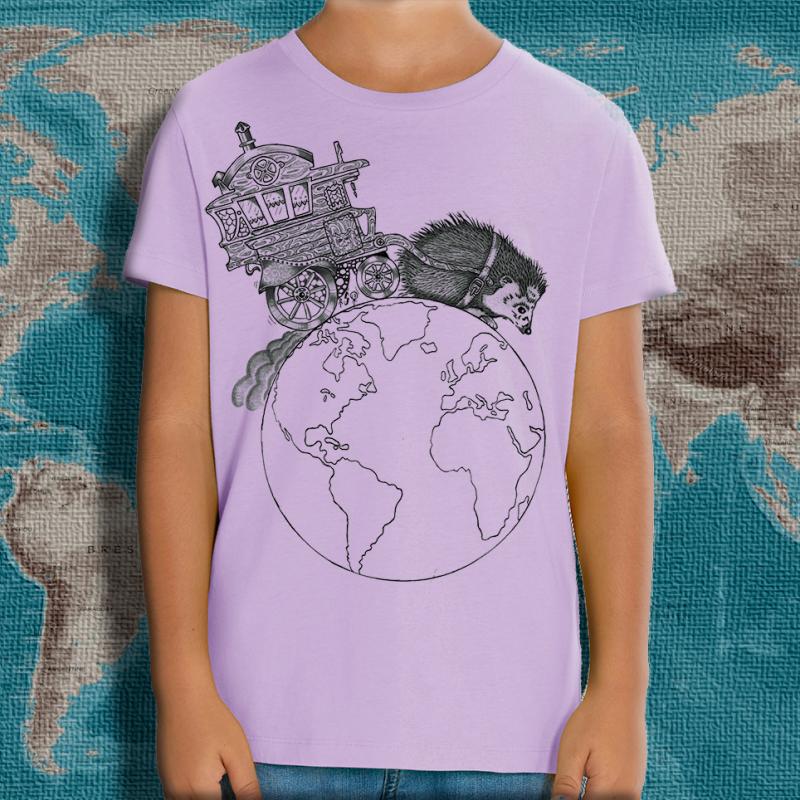 NIGLOBOHEM lavande T-shirt enfant en coton bio-équitable