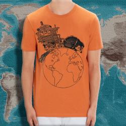 NIGLOBOHEM Orange Chiné ts taille masculine