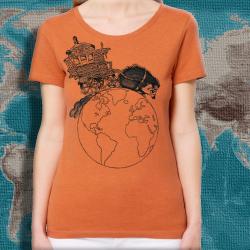 NIGLOBOHEM Orange Chiné ts taille féminine