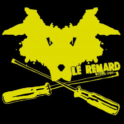 Le Renard, t-shirt bio noir, Enfant