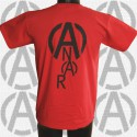 A & Anar, t-shirt rouge, homme, dos
